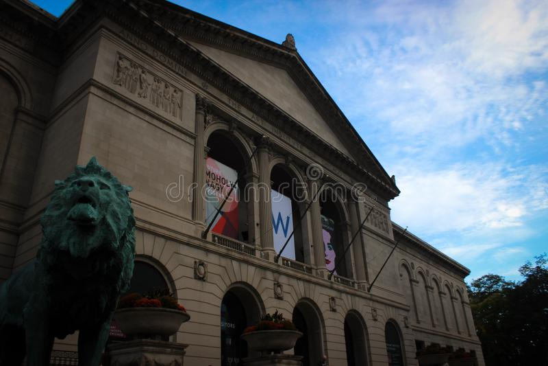 Art Institute da construção de Chicago, Illinois, EUA foto de stock