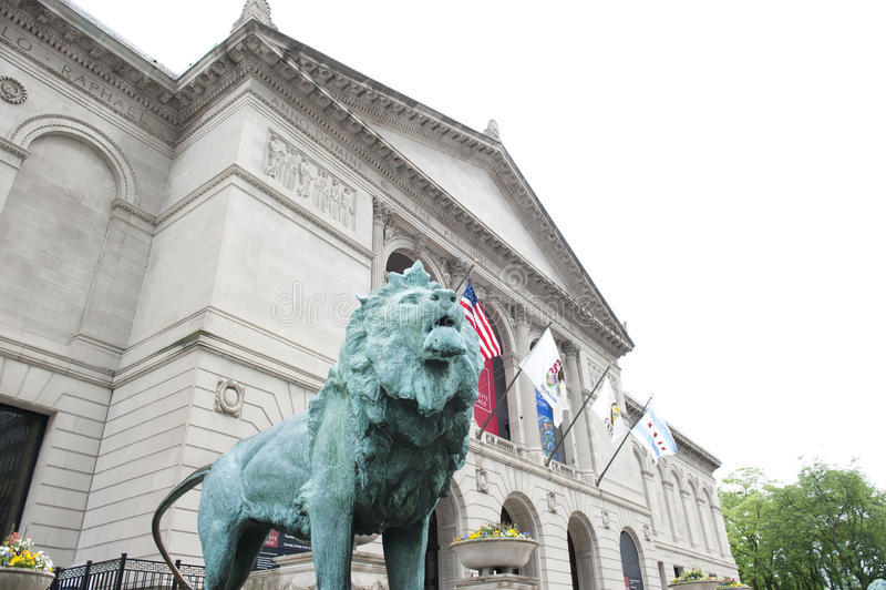 Art Institute en Chicago fotografía de archivo libre de regalías