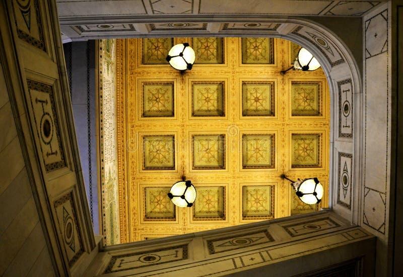 Art Institute van Chicago/plafond stock afbeelding