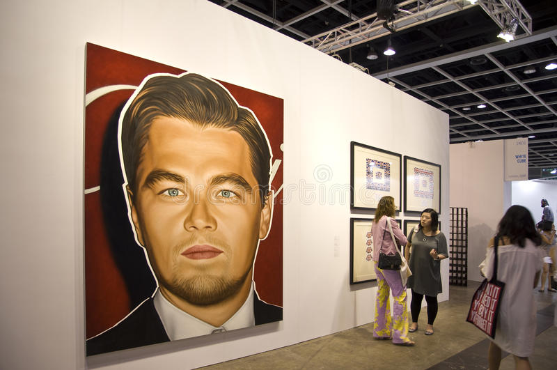 Art international de Hong Kong juste : Rampe de verticale images libres de droits