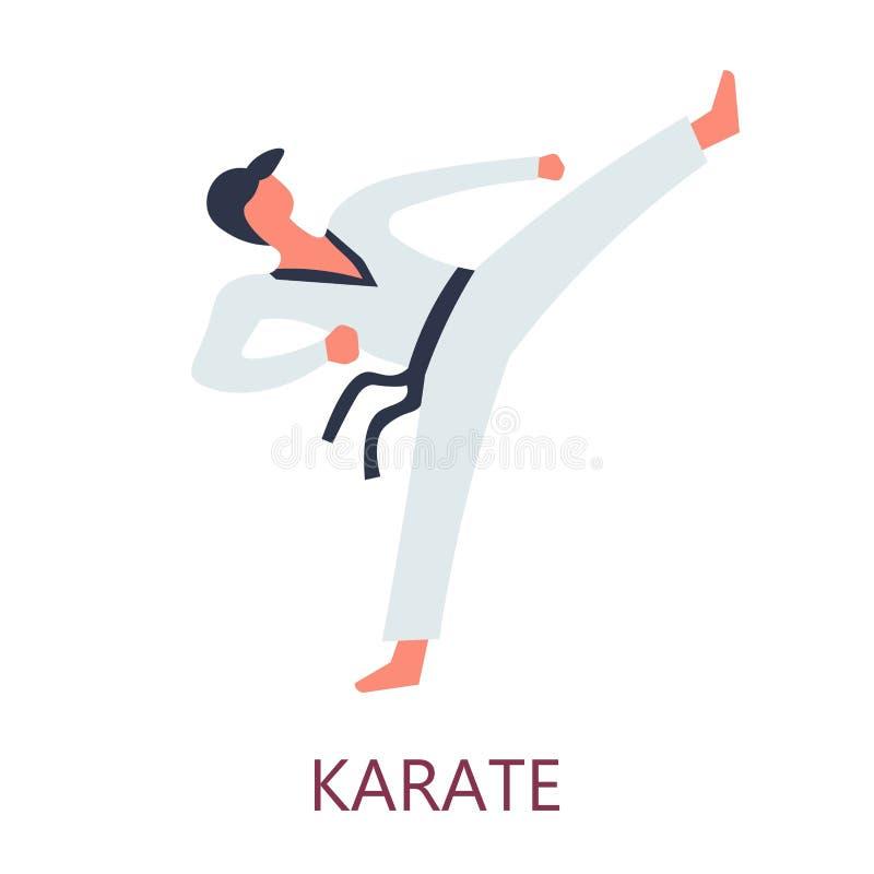 Art japonais de combat de combat d'Oriental de sport de karaté illustration libre de droits