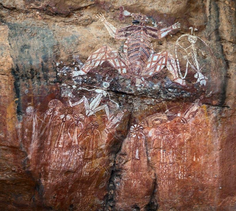 Art Kakadu australie de peinture de roche d'aborigènes images libres de droits