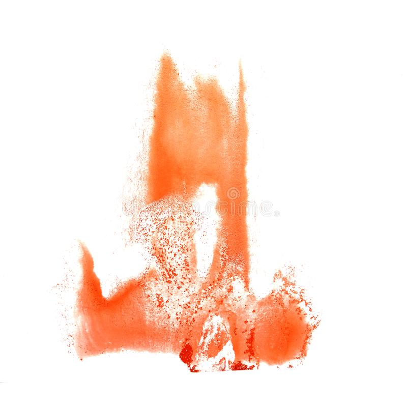 Art The-Karottenaquarelltintenfarbenklecks Watercolour-Spritzen colo vektor abbildung