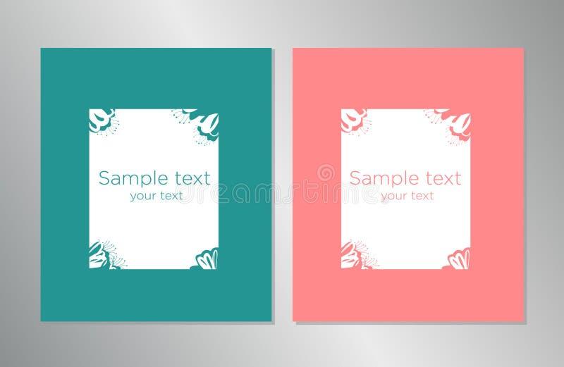 Art Layout för boken, företags identitet, mall för vektor för orientering för design för affisch för reklamblad för broschyrårsra vektor illustrationer