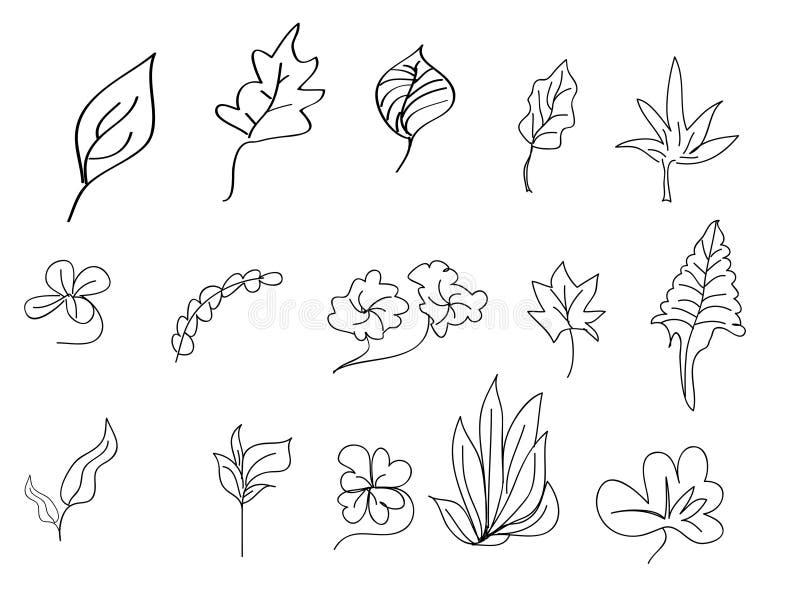 Download Art leaves stock vector. Image of stroke, cartoon, vector - 21438539