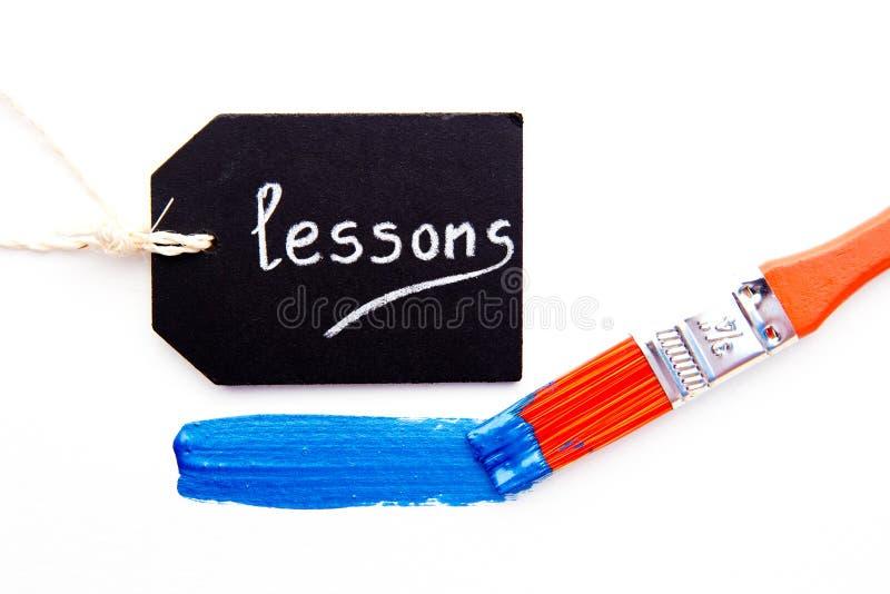 Art Lessons - Verf en borstel royalty-vrije stock foto