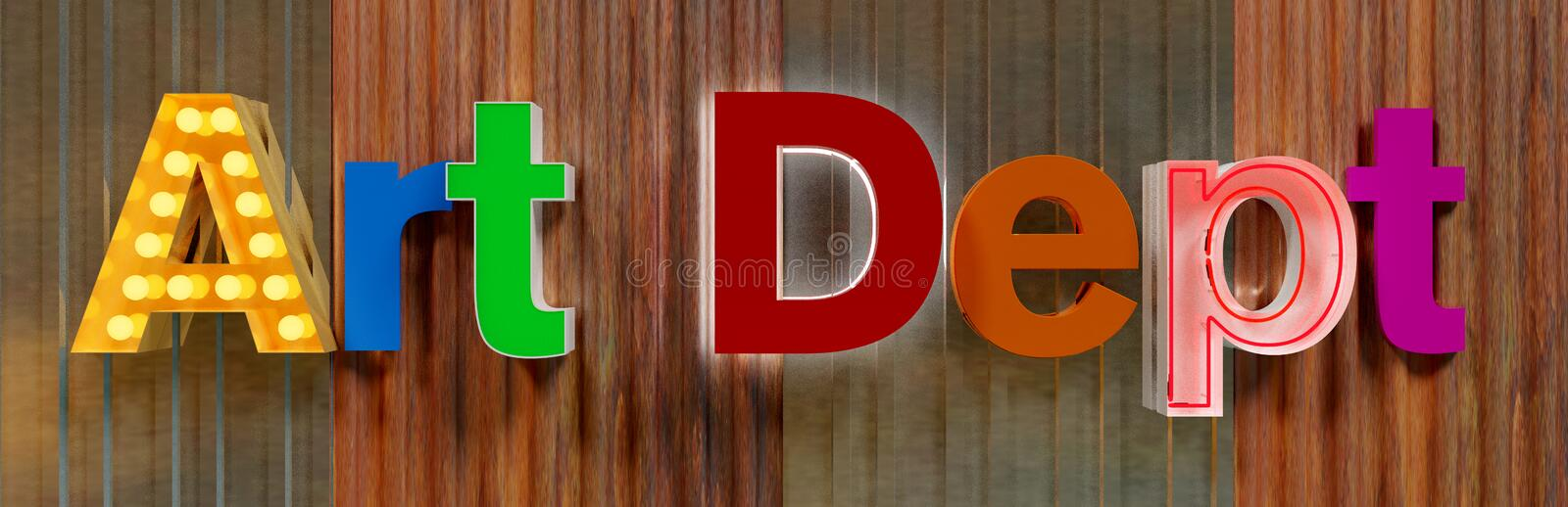 Art Letters on Metal Wall stock images