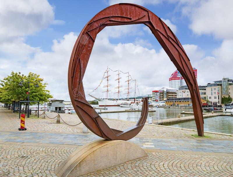 Art Lilla Bommens Torg Gothenburg Sweden moderno imagen de archivo libre de regalías