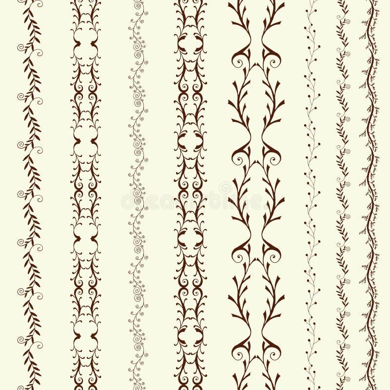 Art line border royalty free illustration