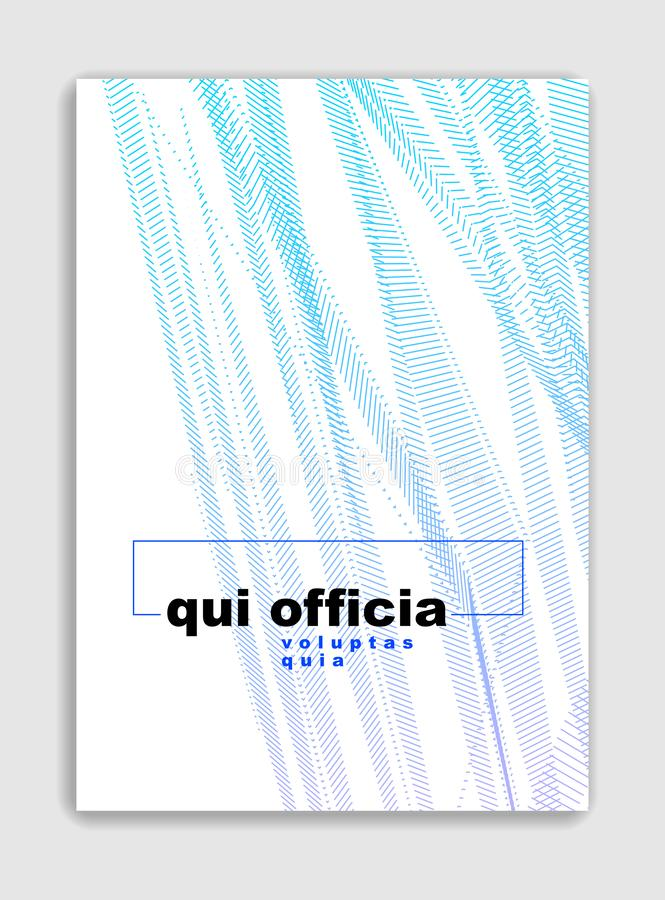 Art linear vector minimalistic trendy brochure design, cover template, geometric halftone gradient. For Banners, Placards, Posters royalty free illustration