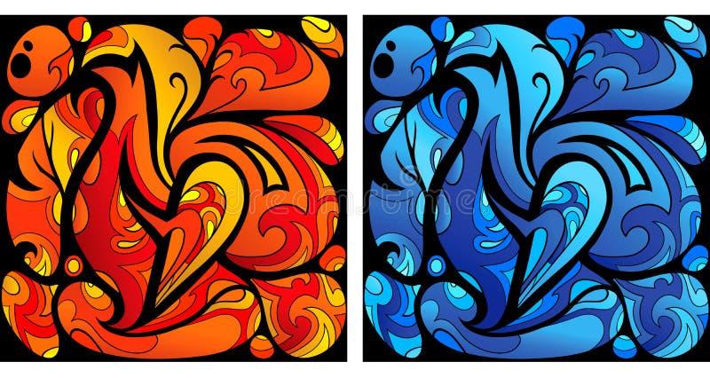 Art liquide illustration libre de droits
