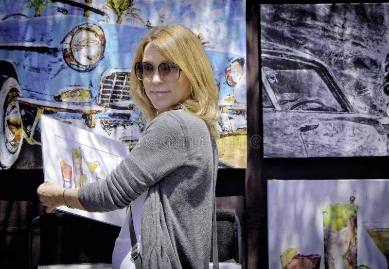 Art Lover, ArtWalk, San Diego royalty free stock photo