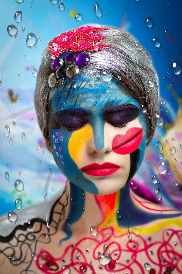 Art makeup royalty free stock photography