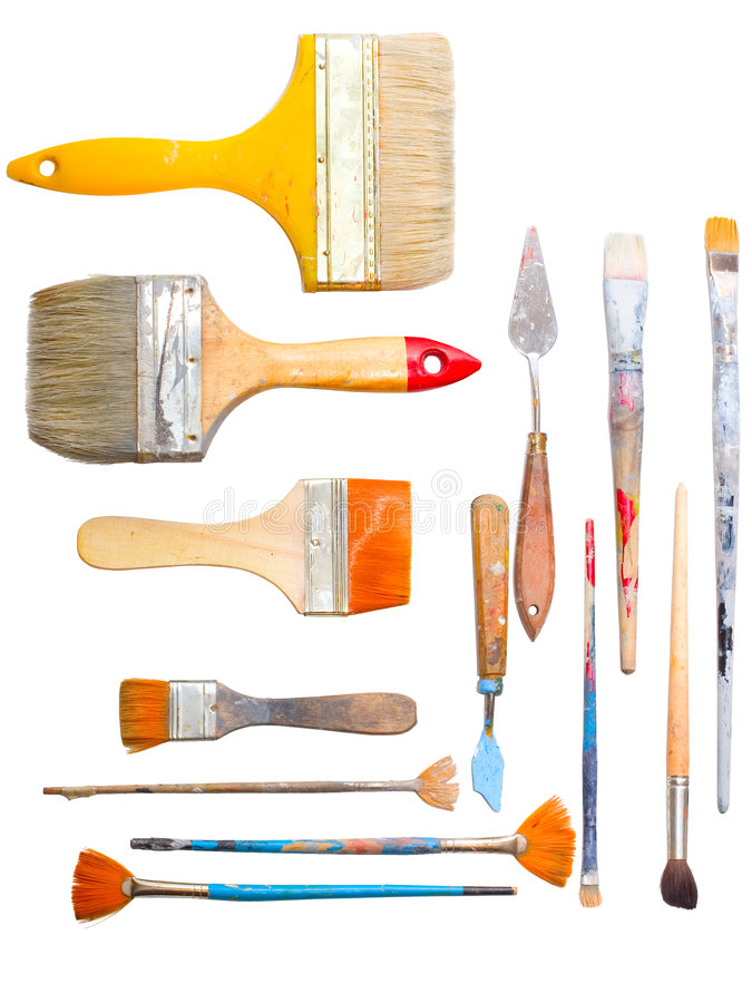 Art making tools stock images