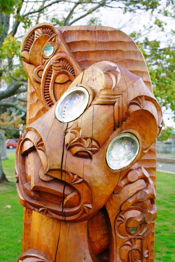 Art maori de sculpture photographie stock libre de droits