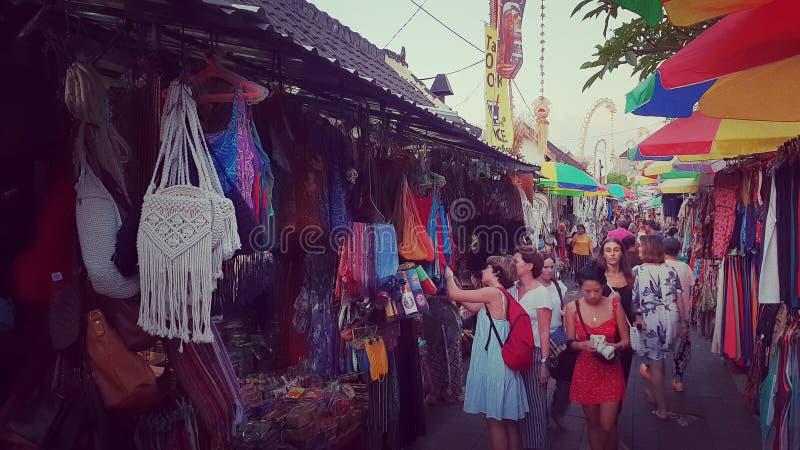 Art market in Ubud royalty free stock image