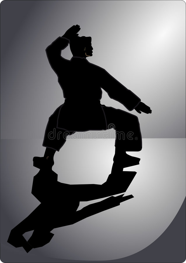 art martial illustration stock
