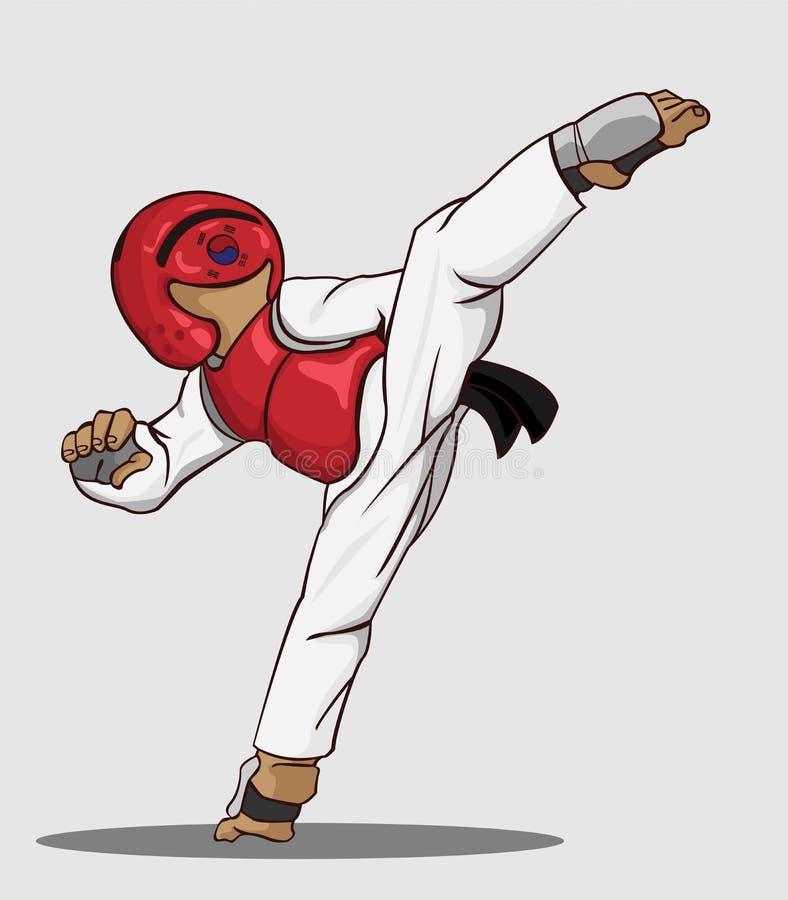 Art martial du Taekwondo illustration libre de droits
