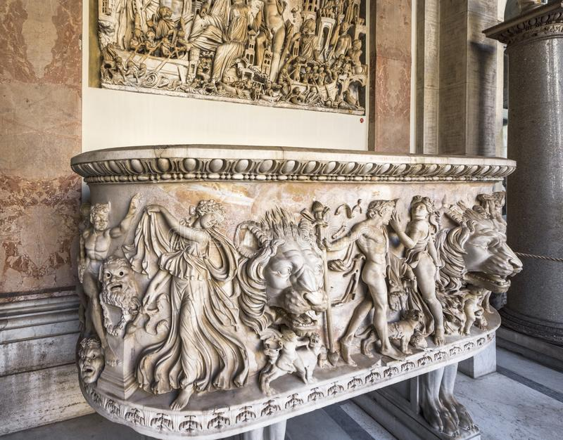 Art masterpieces at the exposition of Vatican museums stock photo