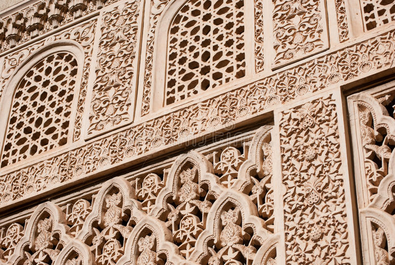 Art (maure) islamique découpé photo stock