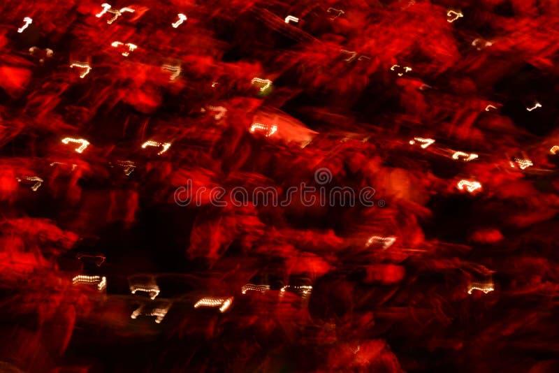 Art moderne Long fond de noir de tache floue de lumières de l'exposition LED photographie stock
