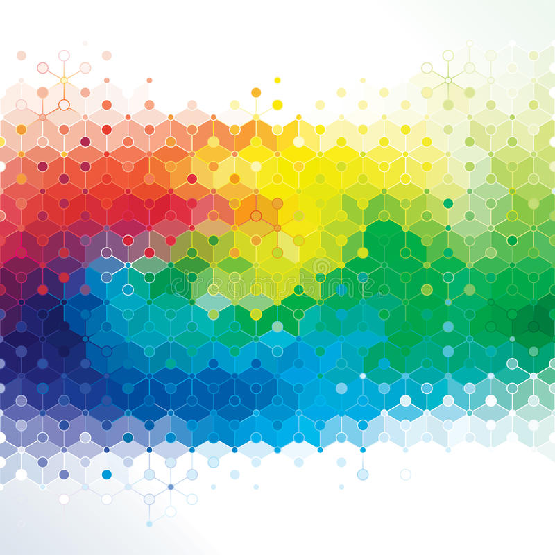 Art of Molecule. stock illustration