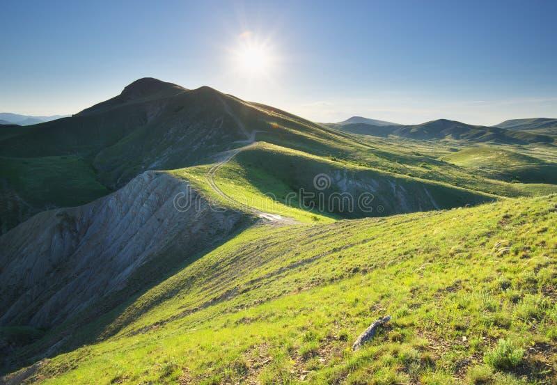 Art mountain landscape royalty free stock photos