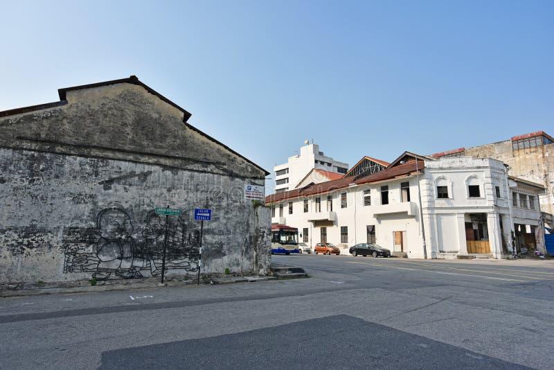 Art mural de fil à Penang image stock