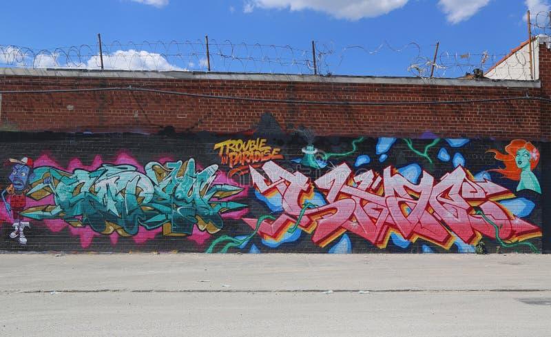 Art mural orienté du Porto Rico à Williamsburg est photo libre de droits