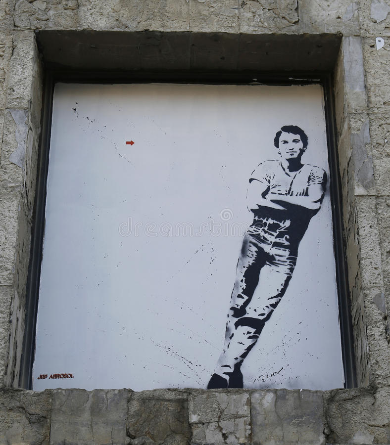 Art mural par Jef Aerosol dans Ushuaia, Argentine image libre de droits