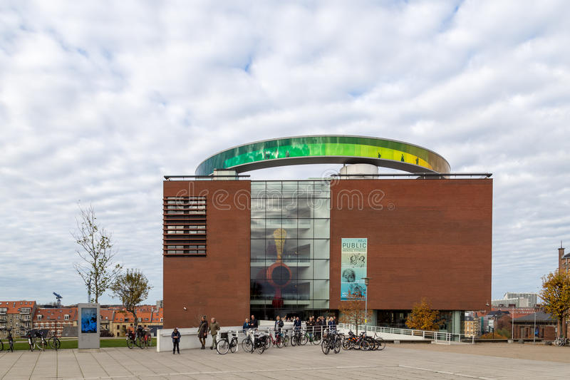 Art museum Aros in Aarhus, Denmark. Aarhus, Denmark - October 30, 2016: Exterior view of the art museum Aros royalty free stock photo