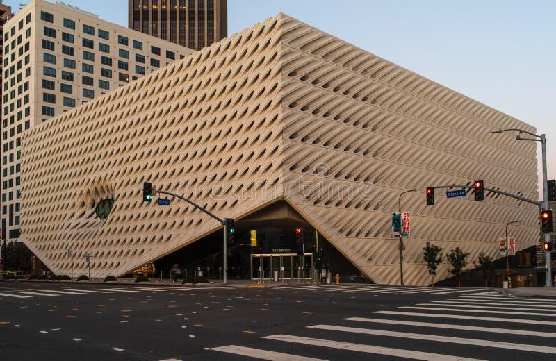 Art Museum contemporáneo amplio en LA foto de archivo