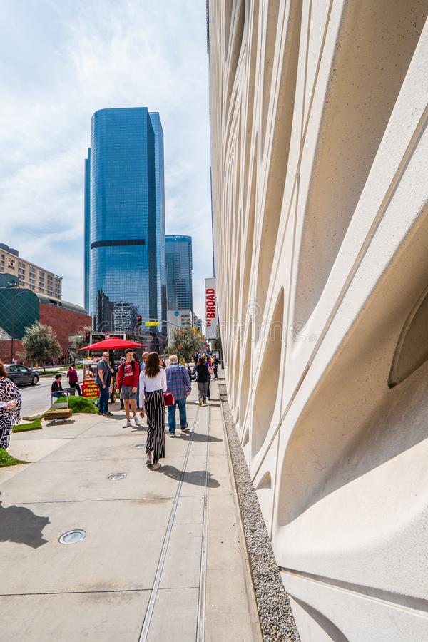 Art Museum largo na baixa de Los Angeles - CALIF?RNIA, EUA - 18 DE MAR?O DE 2019 fotos de stock royalty free