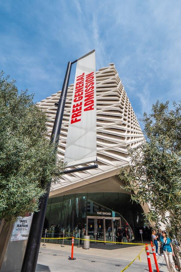 Art Museum largo na baixa de Los Angeles - CALIF?RNIA, EUA - 18 DE MAR?O DE 2019 imagem de stock