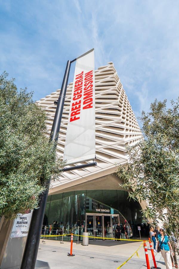 Art Museum largo na baixa de Los Angeles - CALIF?RNIA, EUA - 18 DE MAR?O DE 2019 fotos de stock