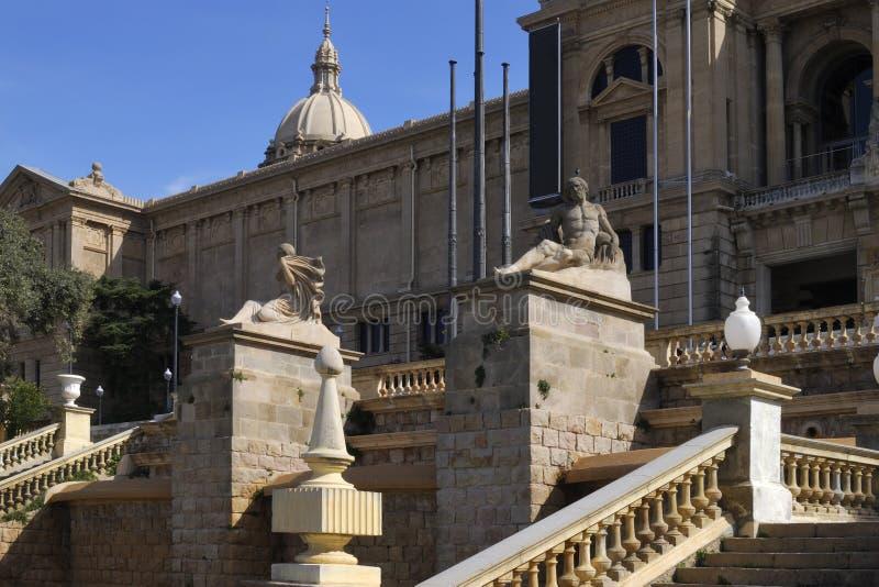Art Museum nacional. Barcelona. Cataluña. España fotografía de archivo