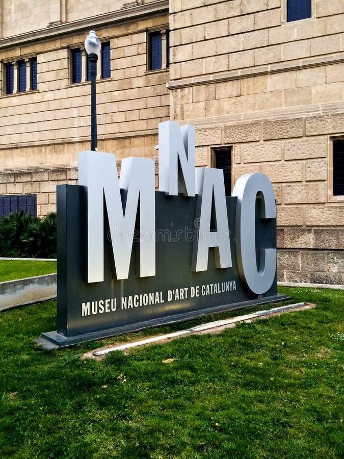 Art Museum nazionale della Catalogna - MNAC immagini stock