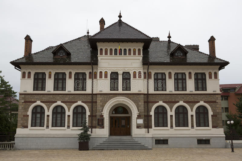 Art Museum - Piatra Neamt - Romania. Historic building royalty free stock photo