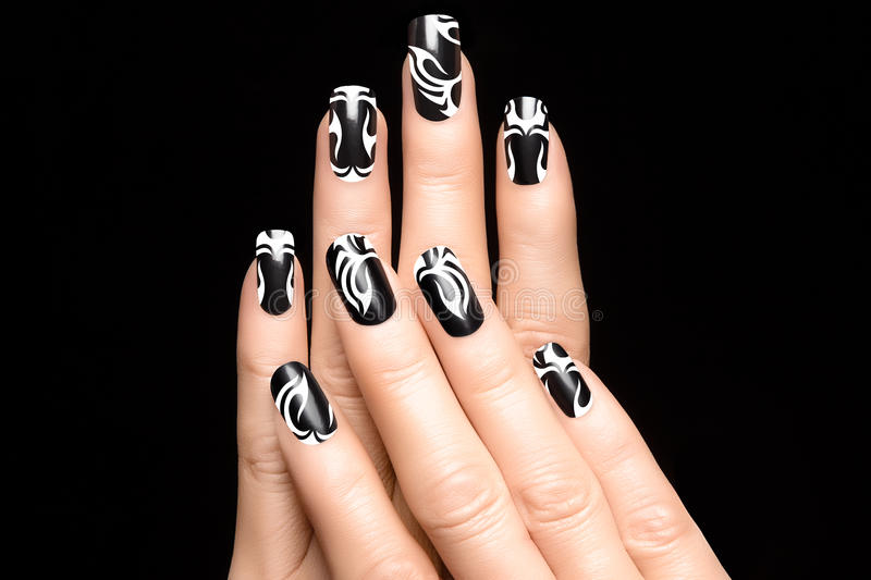 Art Nail Tattoo royaltyfria bilder