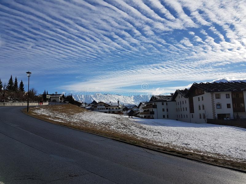 Art naturel structuré nuageux de ciel image libre de droits