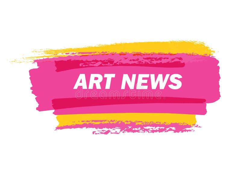 Art-news-pink royalty free illustration