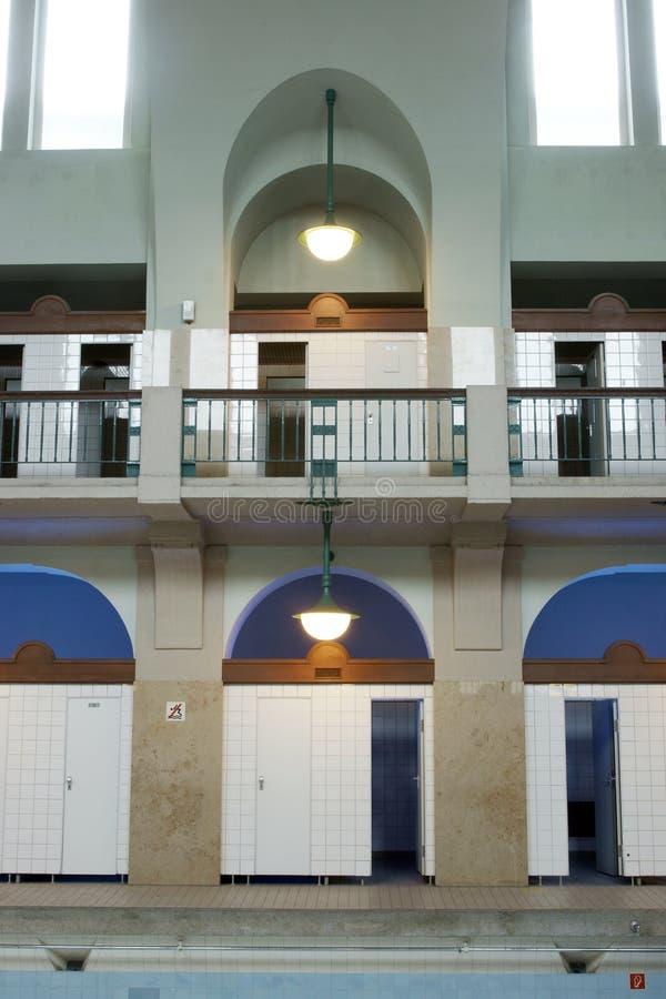 Art nouveau. Former art nouveau public swimming pool royalty free stock images