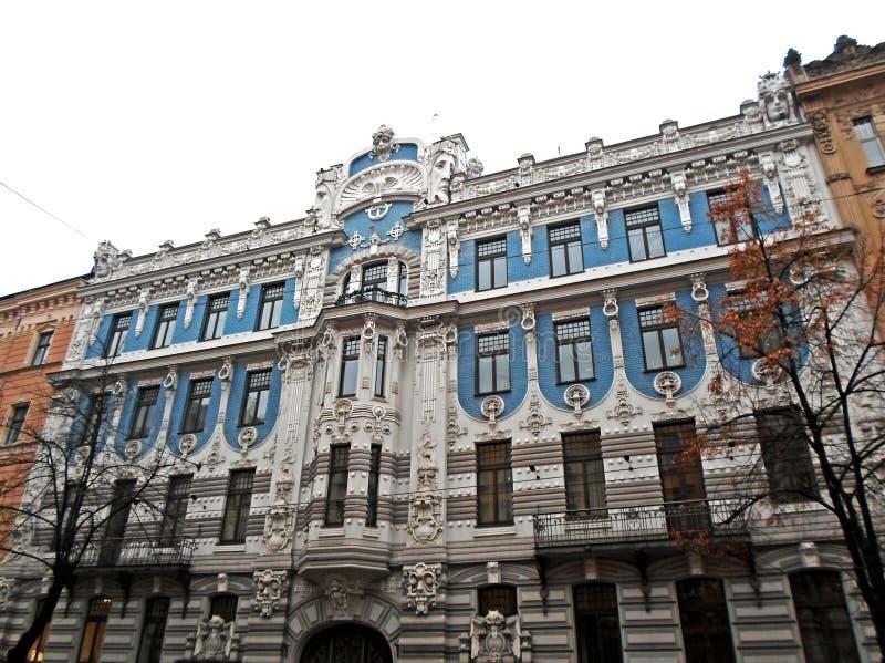 Art Nouveau architecture in Riga stock images