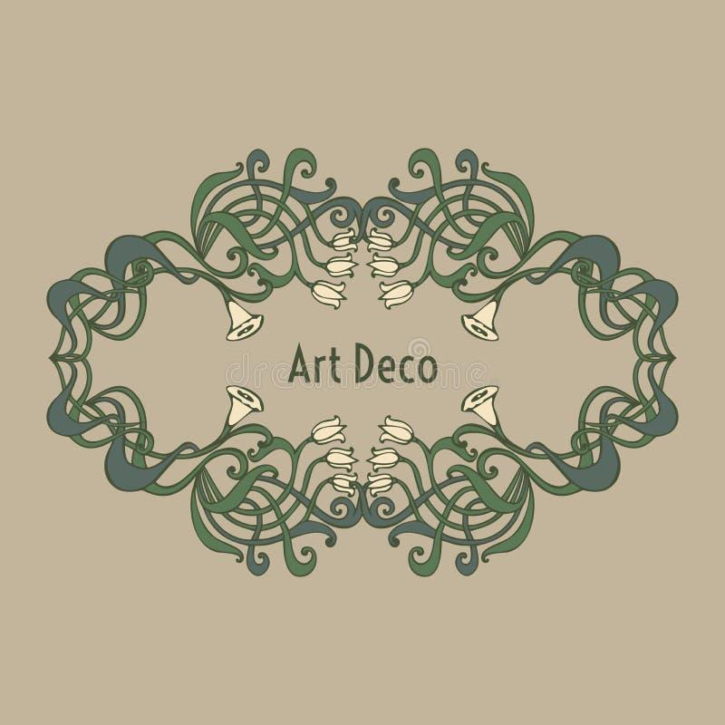 Deco Jugendstil nouveau deco modern vintage elements stock illustration