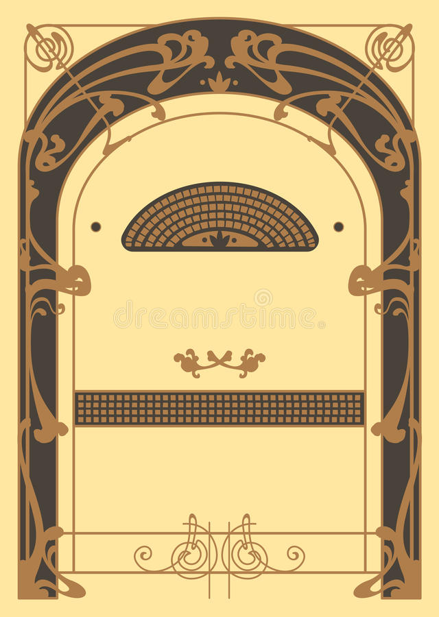 Art Nouveau Background and Frame vector illustration