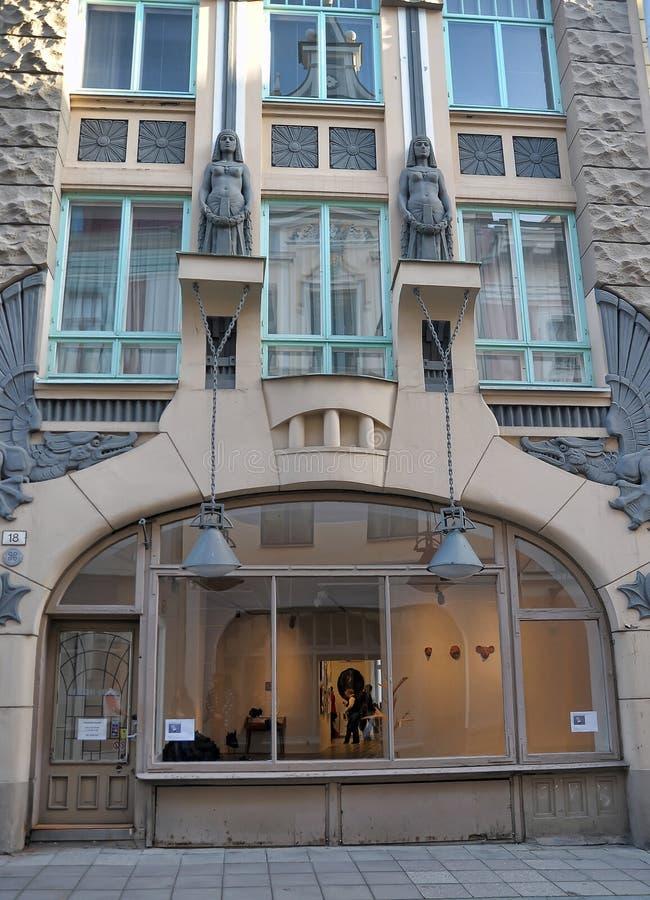 Art Nouveau Building Tallinn, Estonie images libres de droits