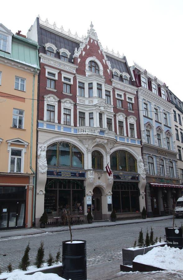 Tirgonu 4 street Riga Latvia. Art Nouveau building Tirgonu 4 street Riga Latvia royalty free stock photography