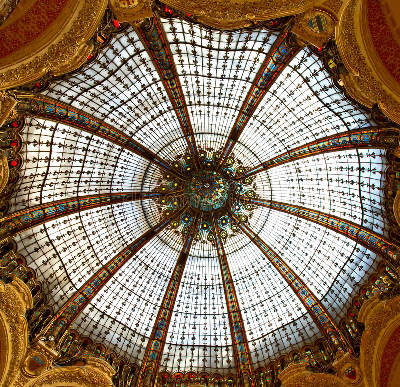 Art nouveau crystal dome royalty free stock images