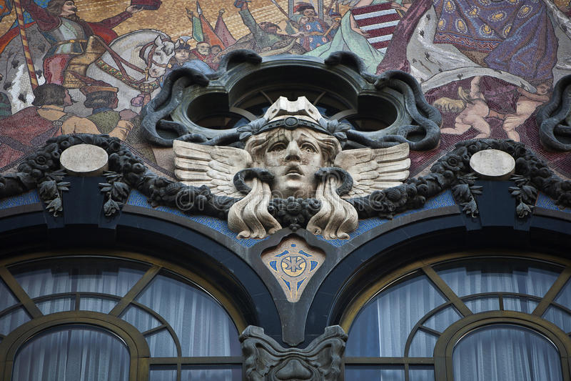 Art Nouveau-de bouw stock fotografie