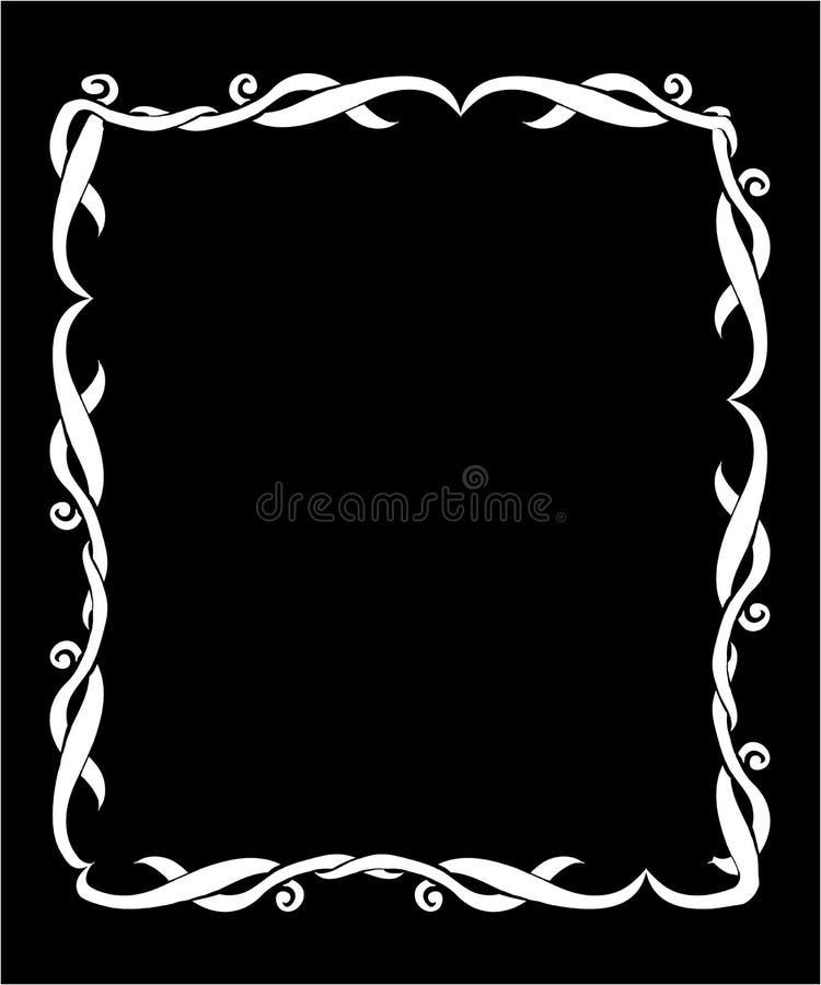 Art Nouveau decorative monochrome square frame with text place. Art Nouveau decorative monochrome frame with text place vector illustration